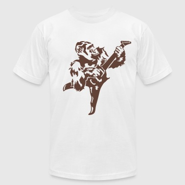 Gorilla with electric guitar - Men's Fine Jersey T-Shirt