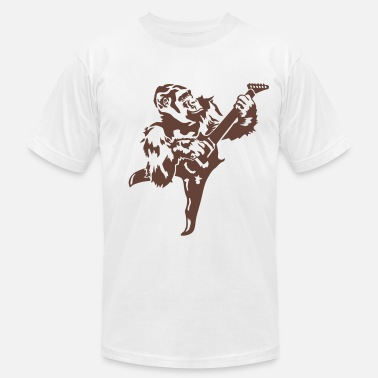 Rock Gorilla with electric guitar - Men's Jersey T-Shirt