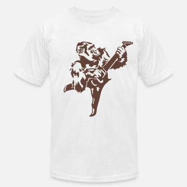 Primacy Gorilla with electric guitar - Men's Fine Jersey T-Shirt