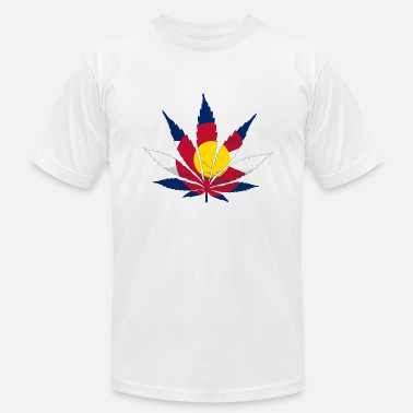 Flags Cannabis Colorado Cannabis Flag - Men's  Jersey T-Shirt