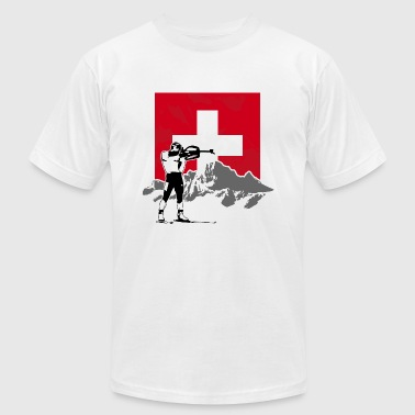 Biathlon - Swiss Flag - Men's Fine Jersey T-Shirt