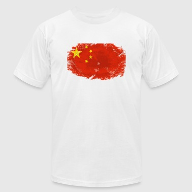 China Flag - Men's Fine Jersey T-Shirt