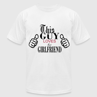 This Guy Loves... - Men's Fine Jersey T-Shirt
