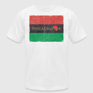 Philly Philadelphia African Flag - Men's Fine Jersey T-Shirt