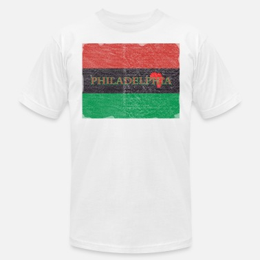 215 Philly Apparel Philly Philadelphia African Flag - Men's  Jersey T-Shirt