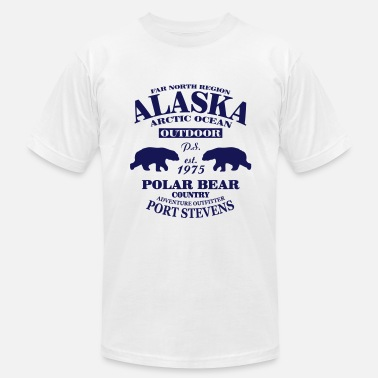Bear Country Alaska -  Polar Bear Country - Men's Fine Jersey T-Shirt