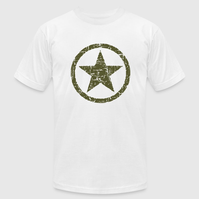 Vintage Army Star - Men's Fine Jersey T-Shirt