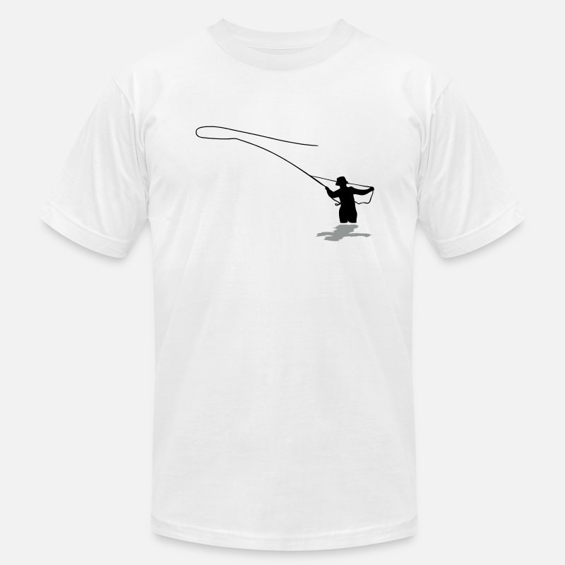 Fish T-Shirts - Fly Fishing - Men's Jersey T-Shirt white
