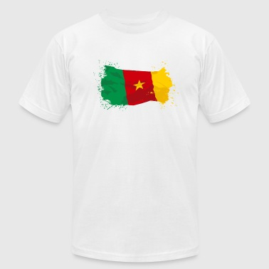 Cameroon Flag - Men's Fine Jersey T-Shirt