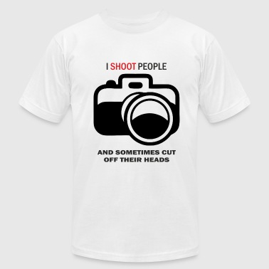 I shoot people photo - Men's Fine Jersey T-Shirt
