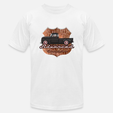 1950 Advance Black Truck - Men's Fine Jersey T-Shirt