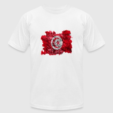 Tunisia Vintage Flag - Men's Fine Jersey T-Shirt