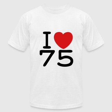 Slogan Shirt - I Love Paris - J'aime 75 - Men's Fine Jersey T-Shirt