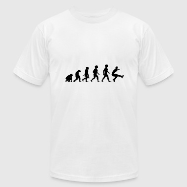Evolution Of Ice Skating Evolution Ice Skating Skater Skates Winter Sports - Men's Fine Jersey T-Shirt