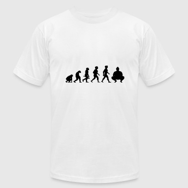 Evolution Sumo Wrestling Wrestler Japan - Men's Fine Jersey T-Shirt