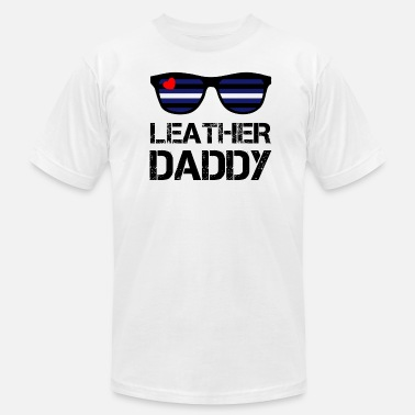 Leather Strips Leather Daddy LGBT Fetish Gay Pride - Men's Fine Jersey T-Shirt
