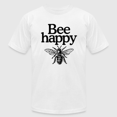 Bee happy - Men's Fine Jersey T-Shirt