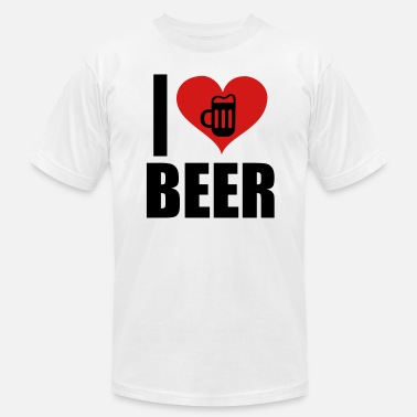 I Love Beer I Love Beer - Men's  Jersey T-Shirt