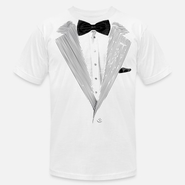 Classy Tux Realistic Tuxedo bow tie and sear sucker - Men's  Jersey T-Shirt