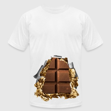 six pack chocolate bar - Men's Fine Jersey T-Shirt