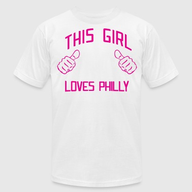 Philly Art Philadelphia Brotherly Love Cute This Girl Loves Philly Philadelphia - Men's Fine Jersey T-Shirt