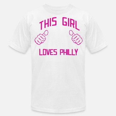 Philadelphia Cute This Girl Loves Philly Philadelphia - Men's  Jersey T-Shirt