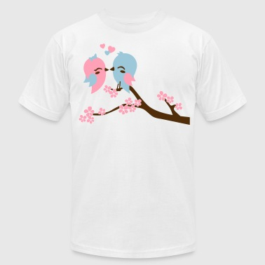 Kissing Birds kissing birds - Men's Fine Jersey T-Shirt