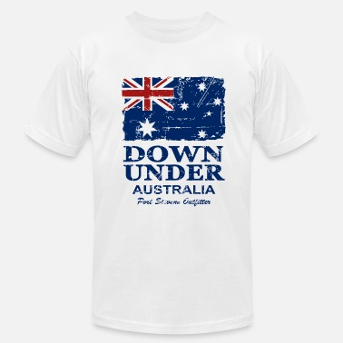Brisbane Australia Flag - Vintage Look - Men's  Jersey T-Shirt