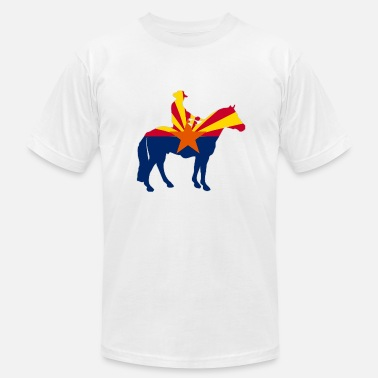 Arizona Flag Arizona Cowboy Flag - Men's  Jersey T-Shirt