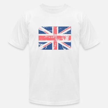 a3fef29f Vintage British Flag Vintage British FLAG - Men's Jersey T-Shirt