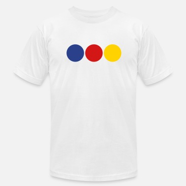 Primary Colors District 3 - primary colors - Men's Fine Jersey T-Shirt