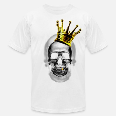 Crowned Skull Skull and Crown - Men's  Jersey T-Shirt