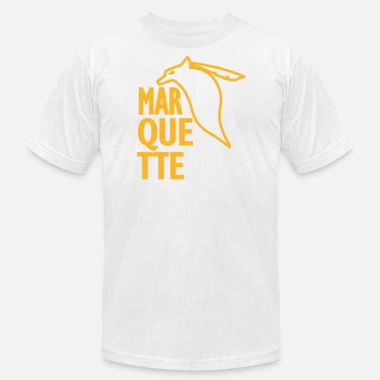 369ba761 Marquette T-Shirts - Marquette Old School Vintage Warriors - Men's Jersey T- Shirt
