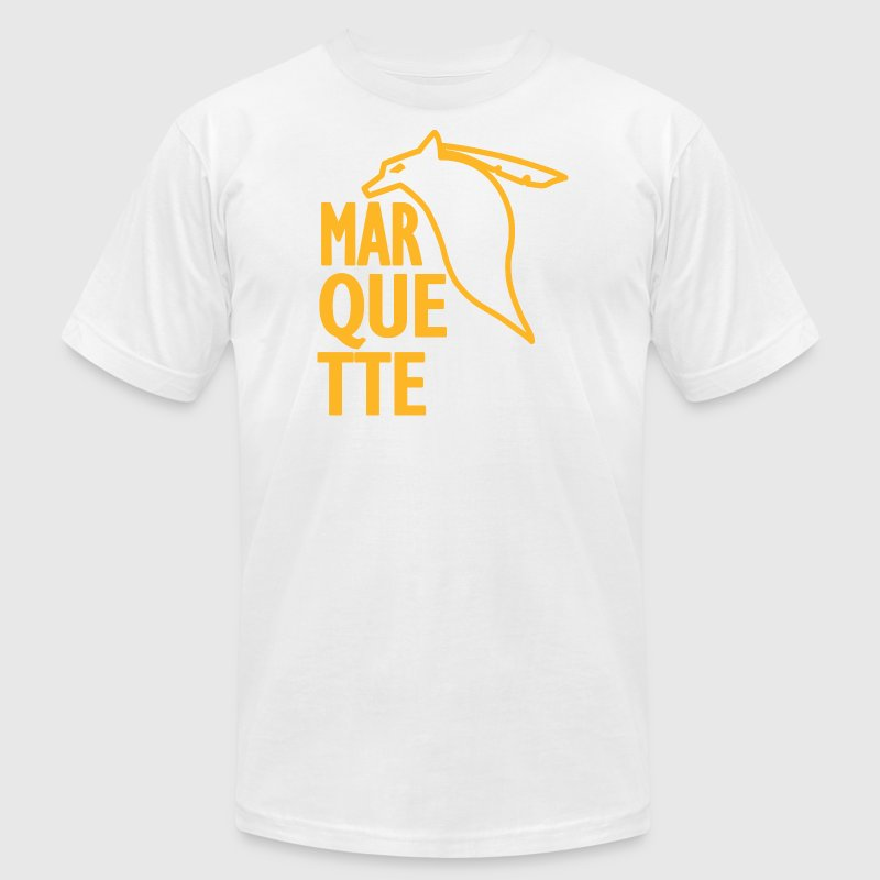 Marquette Old School Vintage Warriors - Men's Fine Jersey T-Shirt