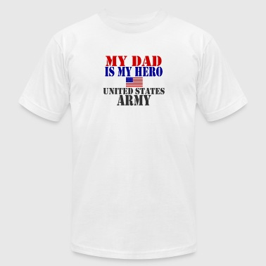 Proud Army Dad Of A Army Daughter USAts DAD HERO ARMY heroes - Men's Fine Jersey T-Shirt
