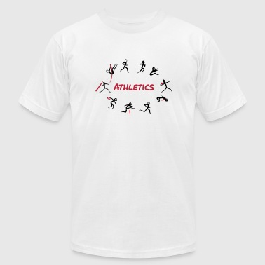 Track And Field Event Athletics, Track and Field, Decathlon - Men's Fine Jersey T-Shirt