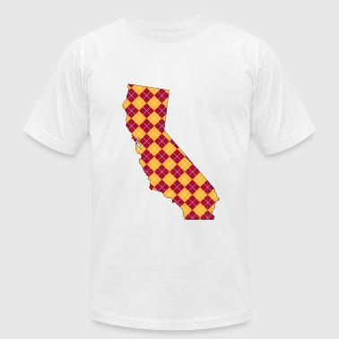 California USC Plaid.png - Men's Fine Jersey T-Shirt