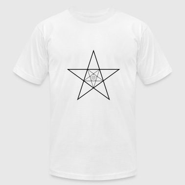 Simple Black Star Geometry Star Pentagram Present Gift Black - Men's Fine Jersey T-Shirt