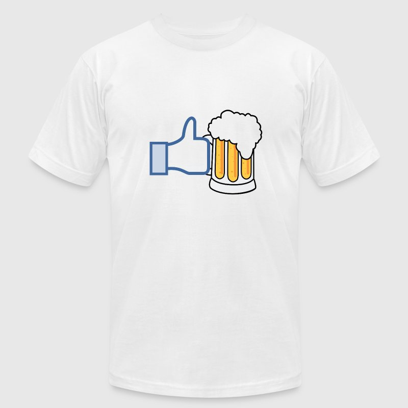 Like Beer - Add Your Own Text - Color - Men's Fine Jersey T-Shirt