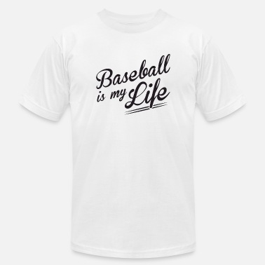 I Love Baseball Baseball - Baseball is my Life - Men's Fine Jersey T-Shirt