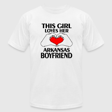 Girls Love Beyonce - this girl loves her arkanas boyfriend - Men's Fine Jersey T-Shirt