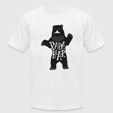 Father's Day Papa Papa bear - Father's Day - Men's Fine Jersey T-Shirt