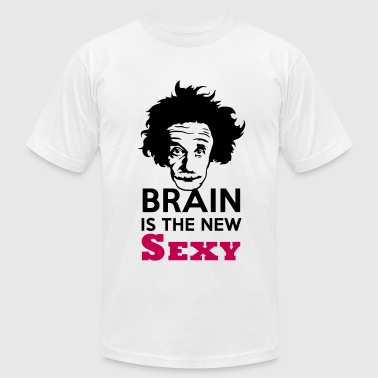 Brain is the new Sexy - Men's Fine Jersey T-Shirt