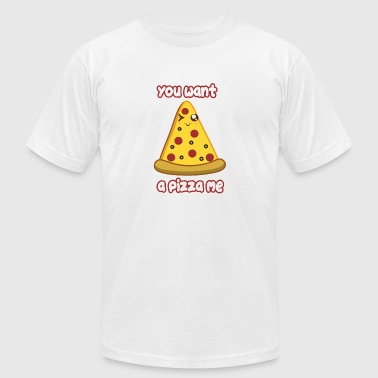 Wanna Be Wanna Pizza - Men's Fine Jersey T-Shirt