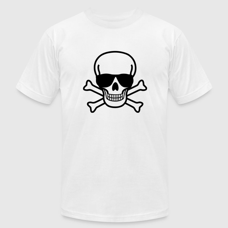 Skull with Sunglasses - Men's Fine Jersey T-Shirt