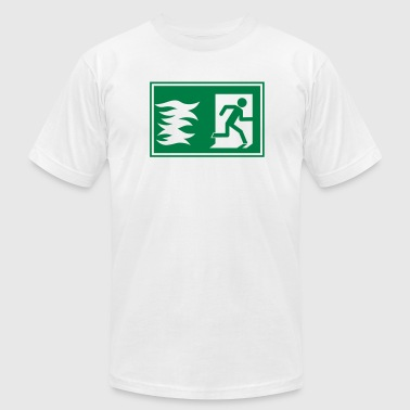 Escape emergency exit / fire alarm sign - Men's Fine Jersey T-Shirt