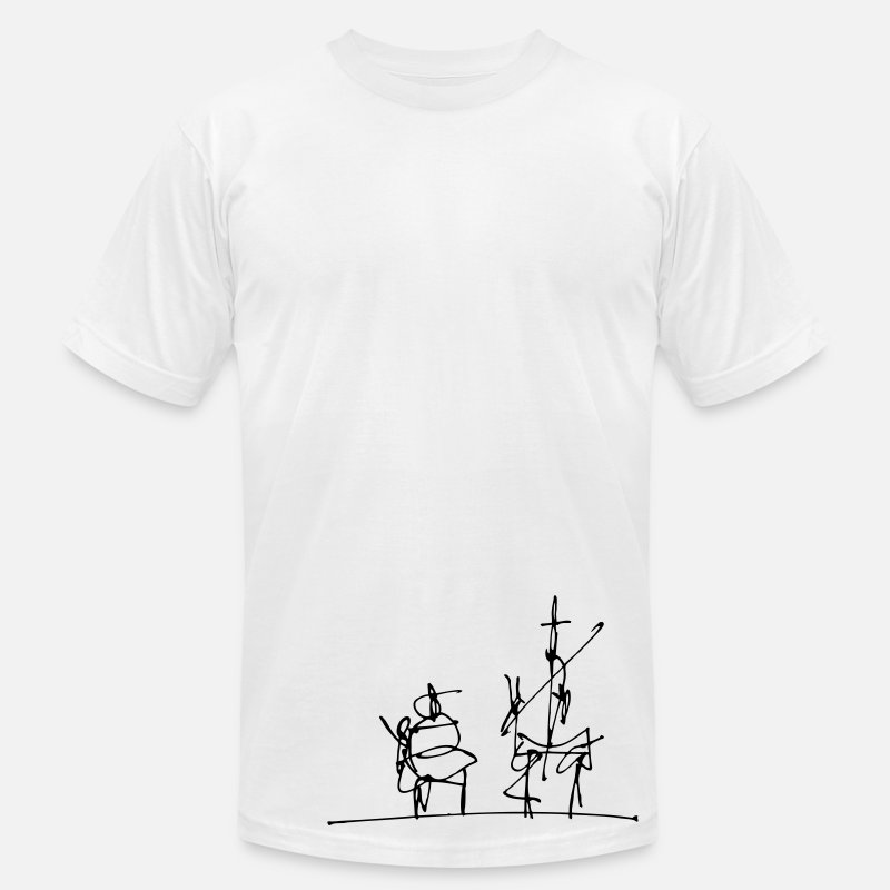 Illustration T-Shirts - Don Quijote - Men's Jersey T-Shirt white