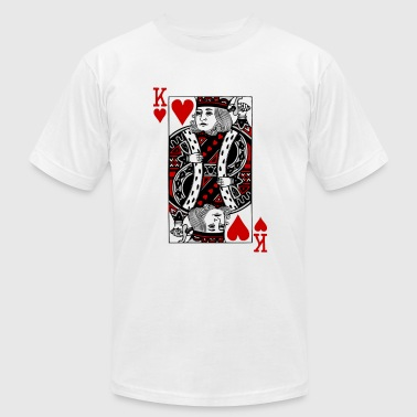 Queen Of Hearts king of hearts Valentines Day (his and her) - Men's Fine Jersey T-Shirt