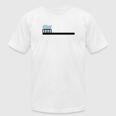 Toothpaste Toothbrush with toothpaste - Men's Fine Jersey T-Shirt