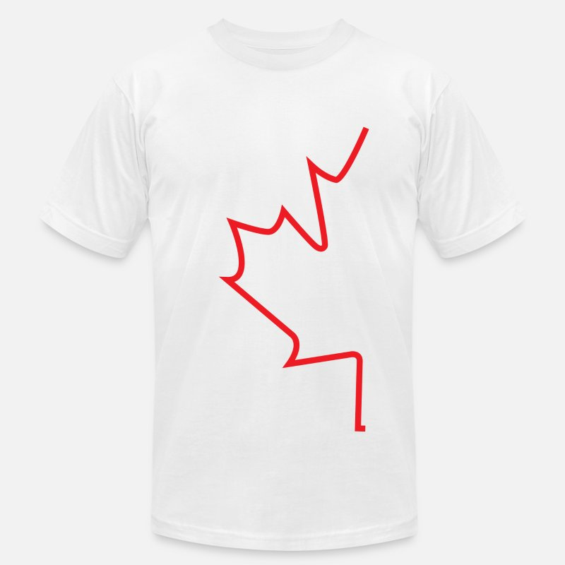 Canada T-Shirts - Canada Half Leaf - Men's Jersey T-Shirt white